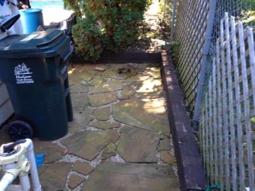 OutdoorArtsLandscape lornaflagstone timberwalls 005
