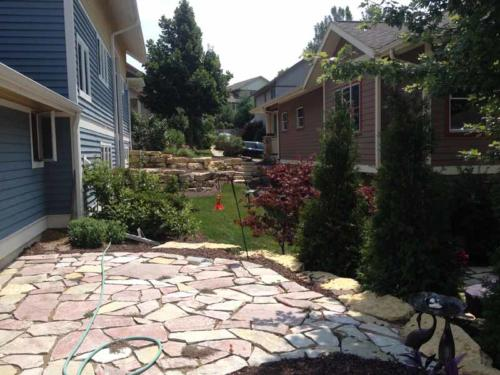 OutdoorArtsLandscape middletonhillsflagstone plantingswalls 013
