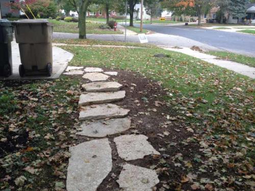 OutdoorArtsLandscape segmentalwalls flagstonegardensteps 005